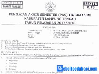 Naskah Soal PAS/ UAS IPS Kelas 8 K13 Tahun 2018/2019