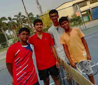 Suryansh Patani Playing Tennis With His Friend