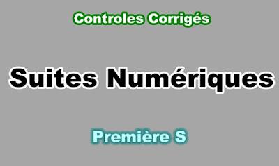 Controles Corrigés de Suites Numériques Première S PDF