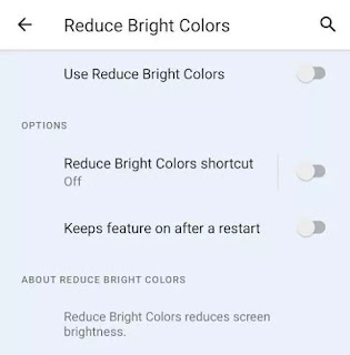 Reduce Bright Color Android 12