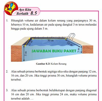 Kunci Jawaban Buku Paket Matematika Kelas 8 Ayo Kita Berlatih 8.5 Halaman 179 180 www.jawabanbukupaket.com