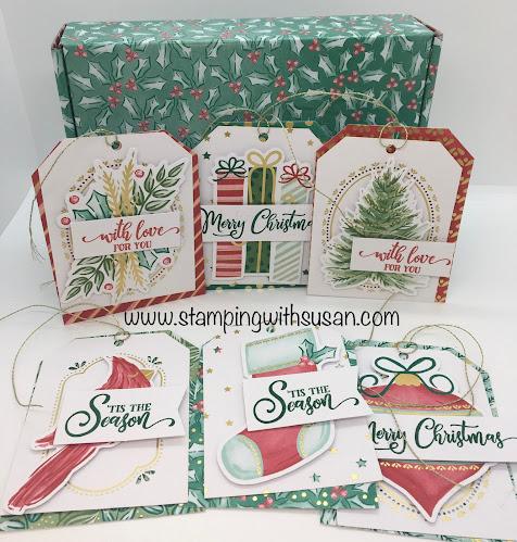 Stampin' Up!, Tag Buffet Project Kit, 2020 Mini Catalog, www.stampingwithsusan.com, Card Kit,