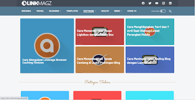 LinkMagz Grid Blogger Template Free Download Premium Version.