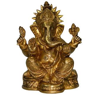 DronaCraft Blessing Lord Ganesha Handmade Brass Statue