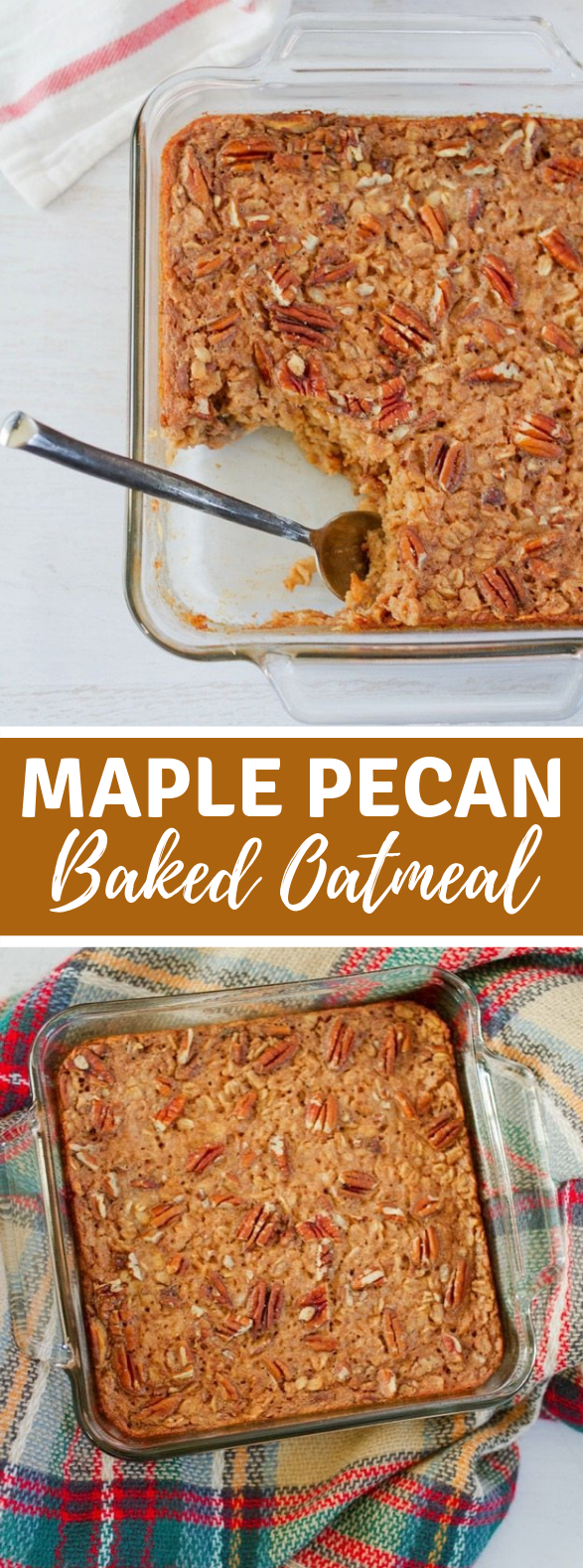 Maple Pecan Baked Oatmeal #brunch #breakfast