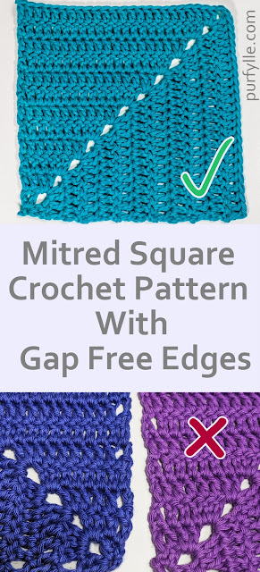 Avoid unsightly holes with this Mitred Square Crochet Pattern With Gap Free Edges