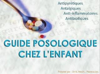 Guide posologique chez l'enfant