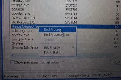 Menu Windows Task Manager