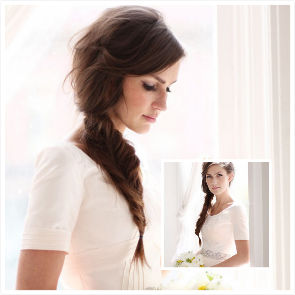 Fishtail Plait Wedding Hair | www.imgkid.com - The Image ...