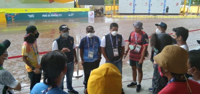 Hujan Landa Timika, Babak Final Panjat Tebing Speed World Record Perorangan Ditunda