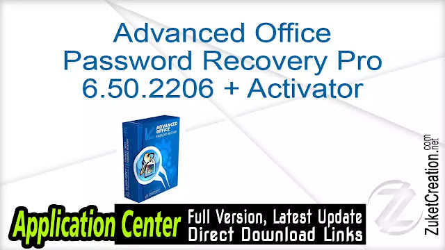 Advanced Office Password Recovery Pro 6.50.2206 + Activator