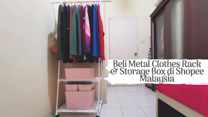 Beli Metal Clothes Rack & Storage Box di Shopee Malaysia