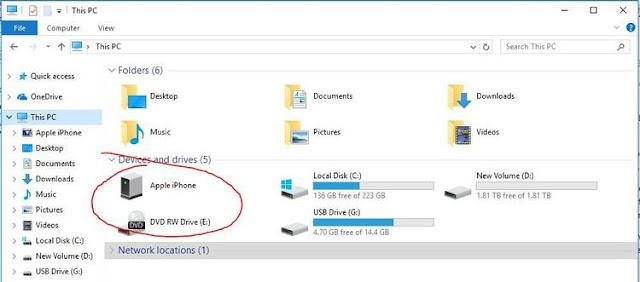 Cara Mengimpor Foto dari iPhone ke Windows 10 Melalui File Explorer