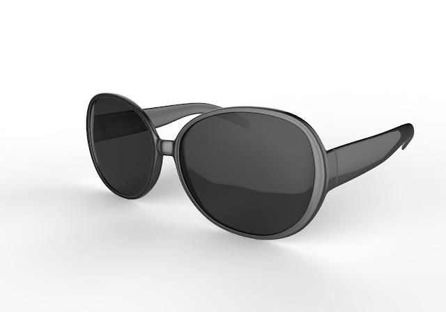 Women sunglass 3d model free download obj,maya low poly