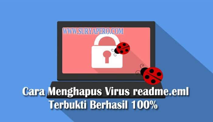 cara menghapus virus readme.eml
