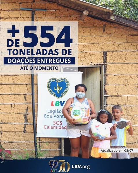 LBV apoia comunidades afetadas pela pandemia da Covid-19