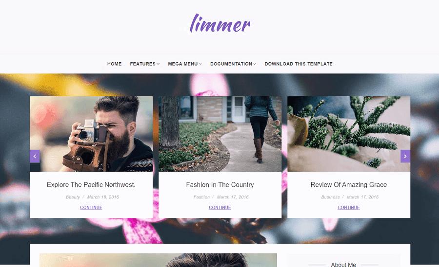Limmer v1.0 - Clean and Elegant Blogger Theme