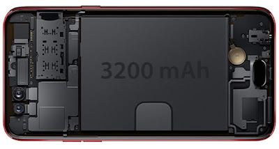 Oppo F3 Red's 3200mAh Long-lasting Battery