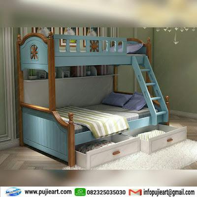 Tempat tidur anak tingkat jati jepara