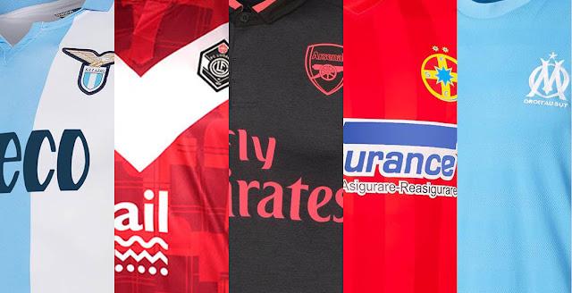 Znalezione obrazy dla zapytania europa league kits