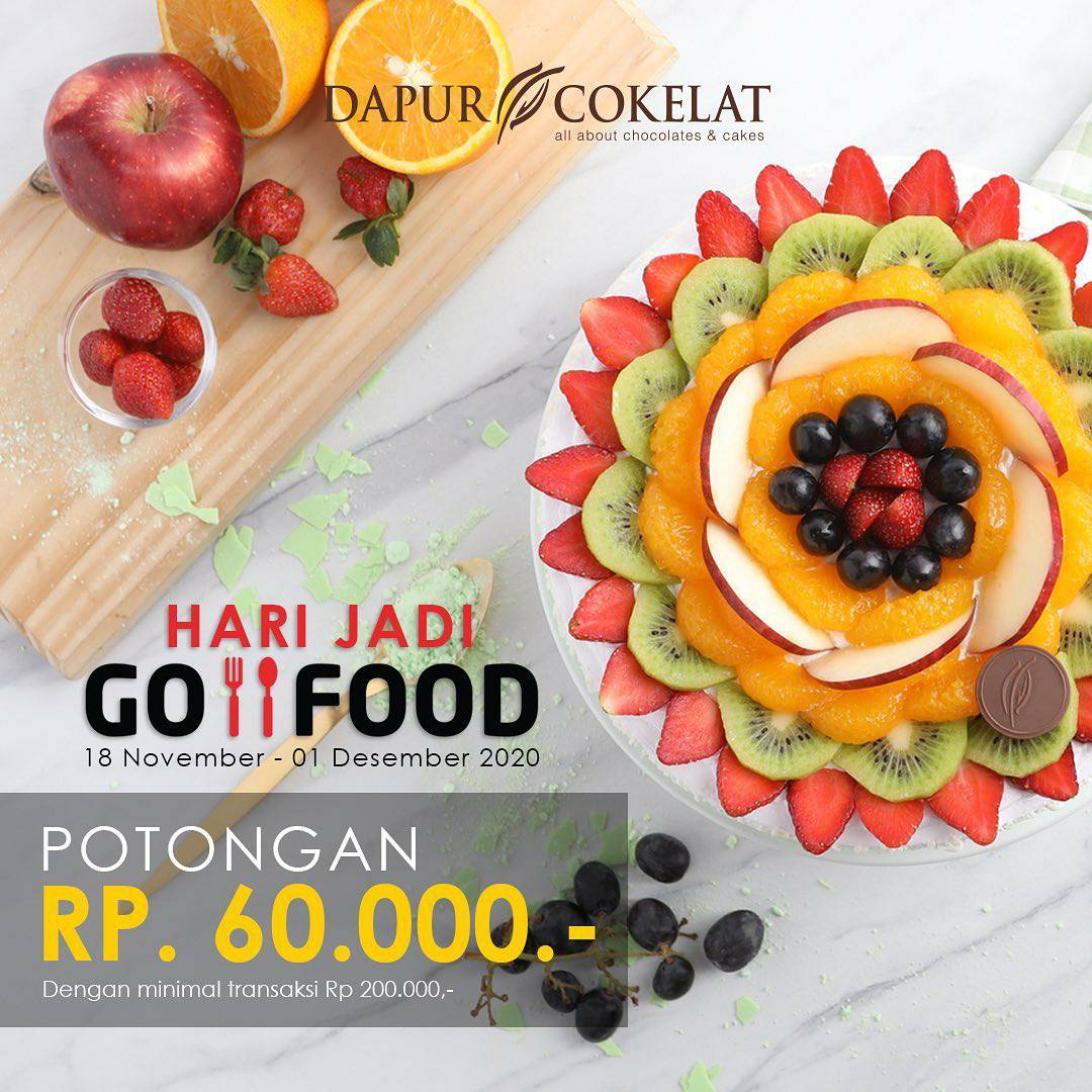 Promo Dapur Cokelat Diskon Rp 60.000 via Gofood
