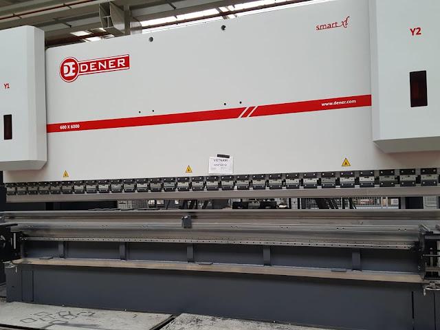 Máy chấn tôn thuỷ lực 600 tấn dài 6 mét