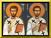 Saints Timothy and Titus - {PD-Art}