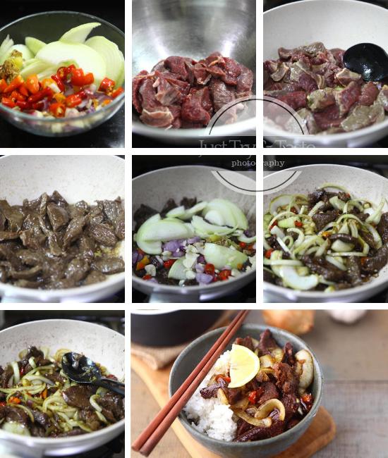 Resep 20 Menit Daging Sapi Bawang Bombay