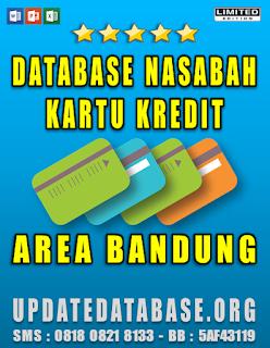 Jual Database Nasabah Kartu Kredit Bandung