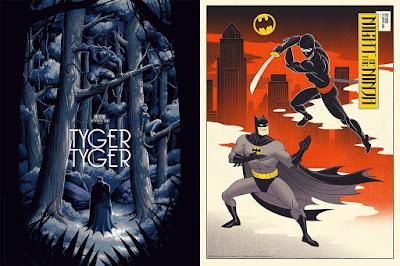 "Batman The Animated Series Screen Prints ""Tyger, Tyger"" & ""Night of the Ninja"" by Phantom City Creative x Mondo"