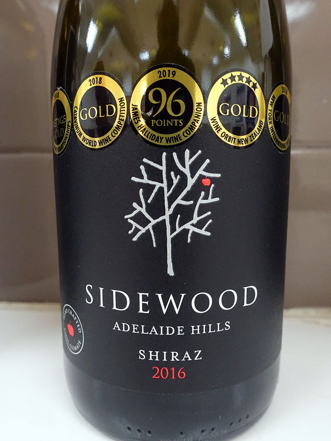 Sidewood Shiraz 2016 (89 pts)