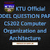Model Question Paper for Computer Organization and Architecture CS202