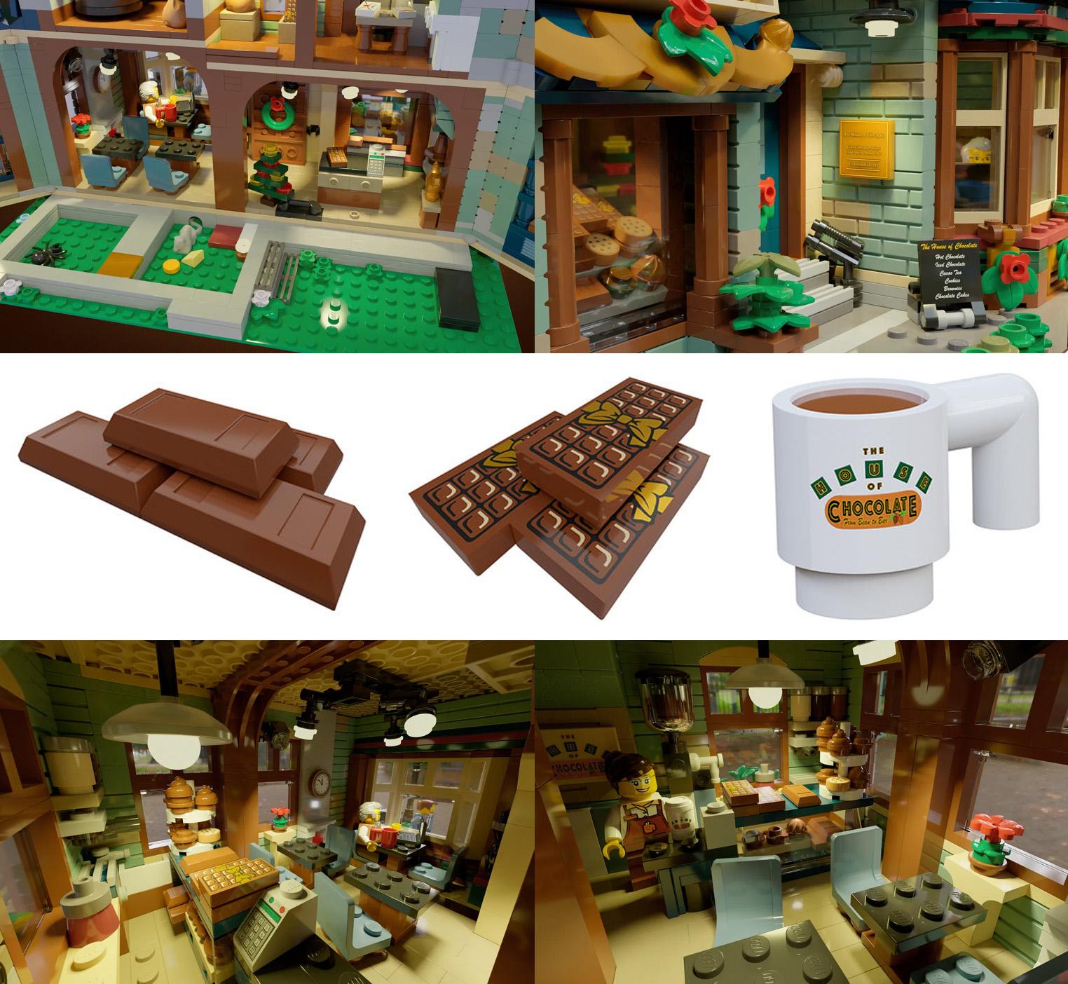 レゴアイデアで『チョコレート・ハウス』が製品化レビュー進出!2021年第1回1万サポート獲得デザイン紹介
