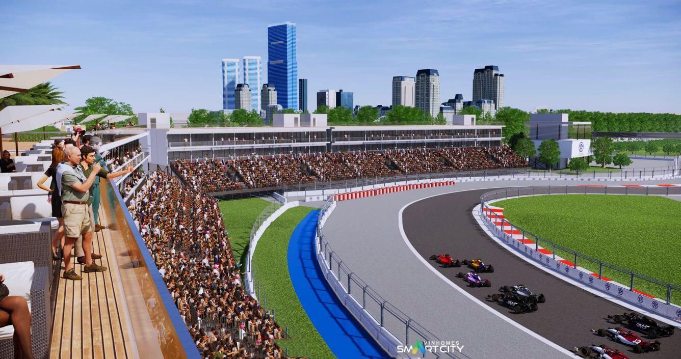 Hình ảnh 3D đường đua F1 Việt Nam