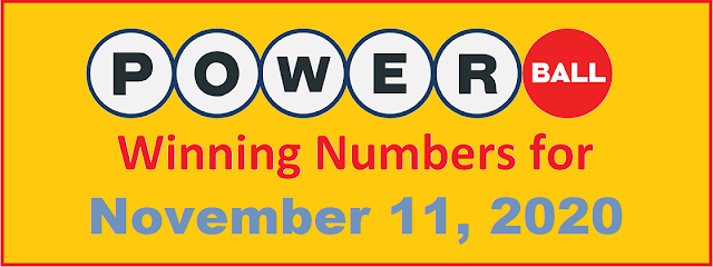 PowerBall Winning Numbers for Wednesday, November 11, 2020