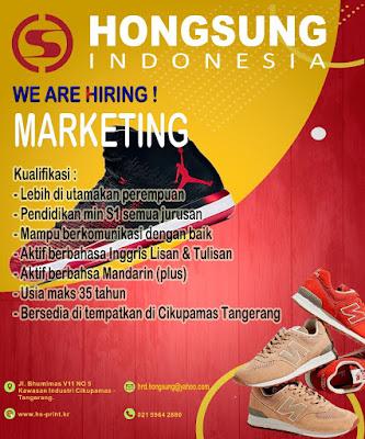 Contoh Iklan lowongan kerja marketing sepatu