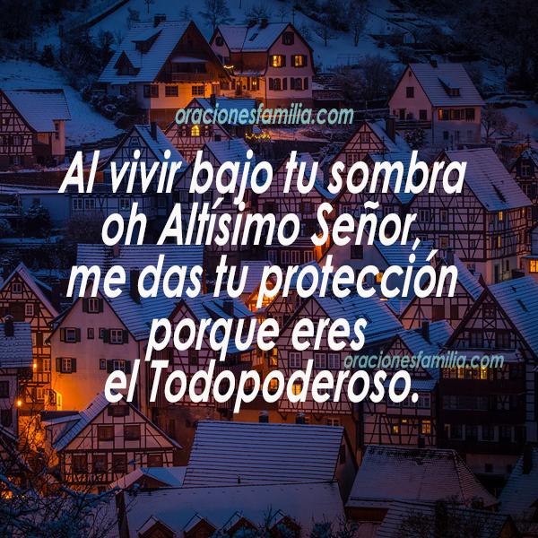 frases con oracion de la noche salmo 91 proteccion de Dios, versiculos citas biblicas salmos