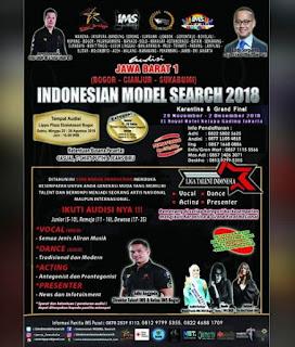 cara mengikuti audisi indonesian model search 2018 di jawa barat