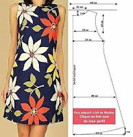 diseños de moda con medidas y patrones de costura de vestidos femeninos