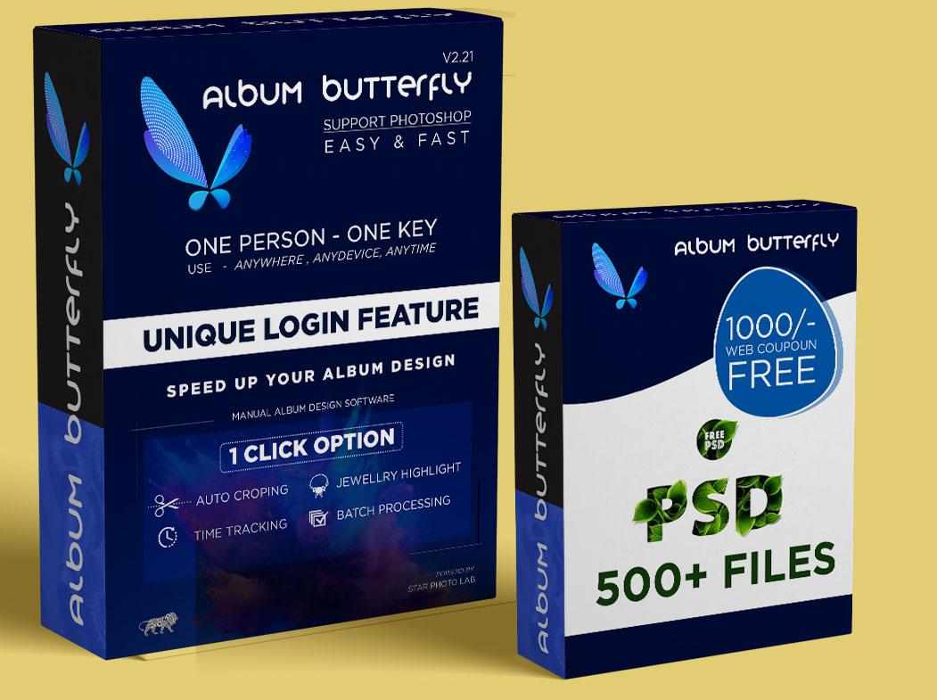 Album ButterFly Photo Album Designing Software