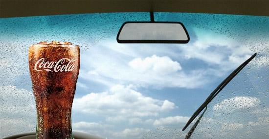 Truques de Limpeza com Coca-Cola - Para-brisa sujo com insetos mortos