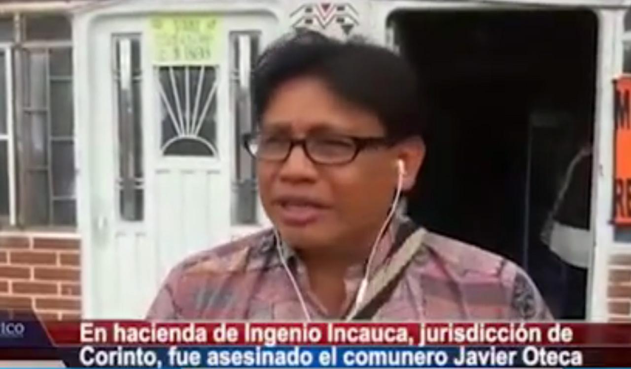 En predio del Ingenio Incauca, en Corinto, asesinaron al comunero indígena Javier Oteca