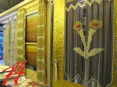 Rèm hạt gỗ hình hoa loa kèn