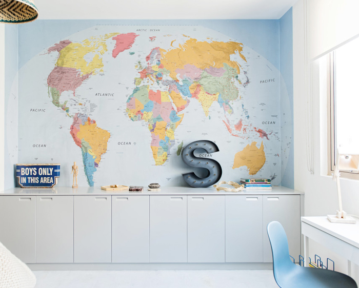 big map in children room Liveloudgirl