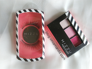 Mizzu Gradical Eye Shadow Ma Cherie 06 and Mizzu Eyelash The Iconic Aretha