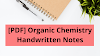 [PDF] Organic Chemistry Handwritten Notes For IIT Jee Download