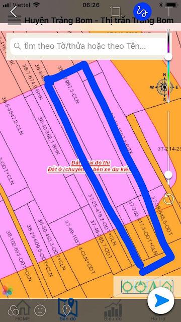 Bán đất mặt tiền Quốc lộ 1A ngay thị Trấn Trảng Bom nở hậu 18m