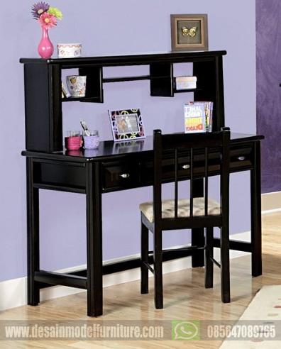 Meja belajar kayu minimalis warna hitam