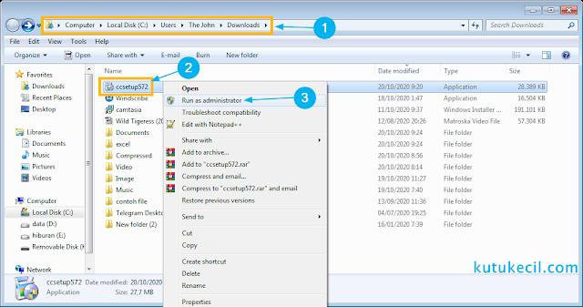 cara install ccleaner full version
