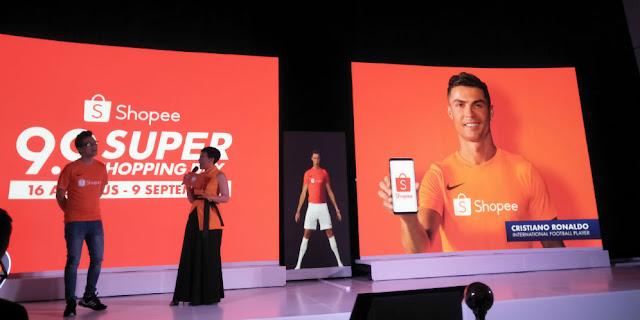 Cristiano Ronaldo Didapuk Jadi Brand Ambassador Shopee